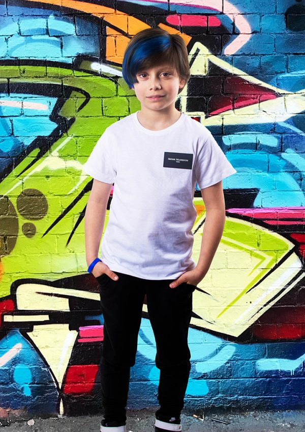 T-shirt Maghsoudi kids persian boys rubber label