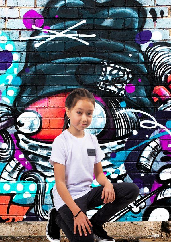 T-shirt Maghsoudi kids persian bgirls Rubber label