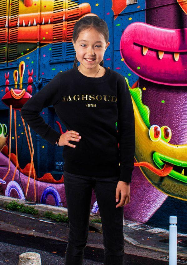 Sweater Maghsoudi kids persian girls gold Print