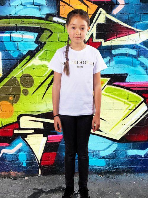 T-shirt Maghsoudi kids persian girls gold Print